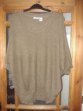 LADIES BROWN SCOOP NECK  JUMPER/SWEATER FROM LA REDOUTE BNIP