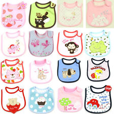 h New Baby Infants kids bibs baby lunch bibs cute towel 3 Layer Waterproof