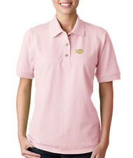JESUS FISH GOD Embroidery Embroidered Lady Woman Polo Shirt