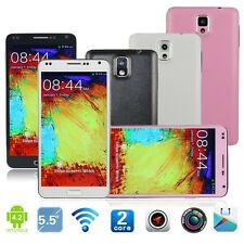 "5.5""Android Dual Cores Unlocked 3G/GSM/WCDMA GPS Smartphone AT&T Straight Talk"