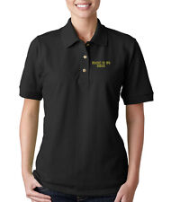 MUSIC IS DRUG Embroidery Embroidered Lady Woman Polo Shirt