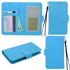 BRILLIANT Teal Universal Wallet Phone Case Pouch Flip Cover For Pantech