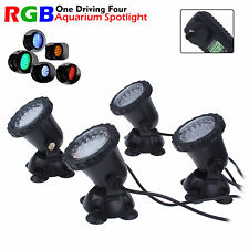 4 to 1 36 LED RGB Fountain Pool Pond Spotlight Aquarium Fish Tank Light IP68