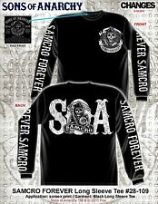 SONS OF ANARCHY SOA SAMCRO FOREVER GRIM REAPER MOTORCYCLE BIKER T SHIRT S-3XL