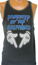 Men's Ringer Tank Top Muscle Top Sleeveless Property of my Girlfriend