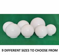 White Glass Spherical Lamp Shades.7 size options (sphere ball globe light)