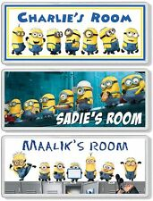 Despicable Me Minions Personalised Kids' Bedroom Door Plaque / Sign ANY MESSAGE