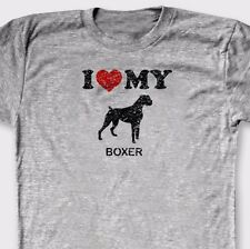 I Heart My Boxer Rescue Pets T-shirt Love Dog Breed Puppies Tee Shirt