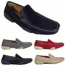 Men Brixton New Leather Driving Casual Shoes Moccasins Slip On Loafers Saric02