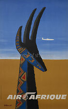 Vintage Air Afrique Airline travel print poster, large 4 sizes available