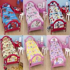 4 PC DISNEY TODDLER JUNIOR COT BED DUVET QUILT COVER PILLOW BUNDLE BEDDING SET