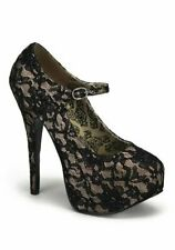 Pleaser TEEZE-07L Women's 5 3/4 Inch Heel Lace Mary Jane With Concealed Platform