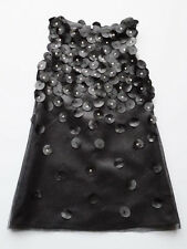 Biscotti Little Girls Black Sparkle Sleeveless Party Dress Size 4 $98 NWT
