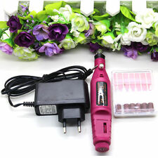 Pen Shape Electric Nail Drill Machine Art Salon Manicure File Polish Tool+6 Bits