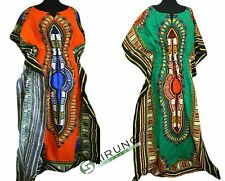 African Caftan Kaftan Dashiki Dress XXL COTTON Free Size Hippy Bat Brand NEW