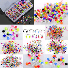 10X Wholesale Colorful Tongue Eyebrow Lip Belly Navel Ring Body Piercing Jewelry