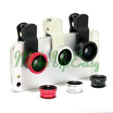Universal 3in1 Fisheye + Wide Angle + Macro Lens Photo Clip Kit Set for iphone 5