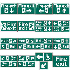 Fire Exit Evacuation Self Adhesive Office Door Workplace Safety Signs - 3 Sizes