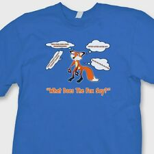 What Does The Fox Say YLVIS Funny T-shirt Norwegian Dance Music Tee Shirt