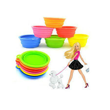 Dog Cat Pet Portable Silicone Collapsible Travel Feeding Bowl Water Dish Feeder