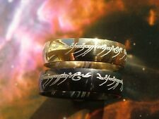 Lord Of The Rings, The One, The Hobbit, S/Steel, Men Women,6mm Band, Wedder, New