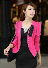 2014 spring and summer fashion ladies three flower Slim small suit jacket