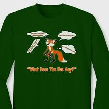 What Does The Fox Say YLVIS Funny T-shirt Norwegian Dance Music Long Sleeve Tee