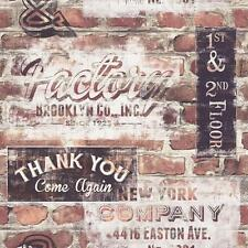NEW RASCH PORTFOLIO NEW YORK TERRACOTTA RED BRICK WALL RETRO WALLPAPER 238600