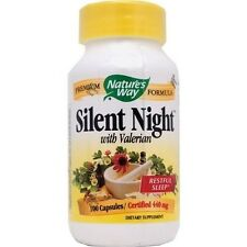 Nature's Way Silent Night with Valerian 440mg 100 Capsules Restful Sleep (#4012)