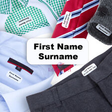TRONS® Iron On Name Labels Transfers Personalised For School Clothing Tapes Tags