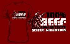 Scitec Nutrition T-Shirt SCITEC BEEF - Red