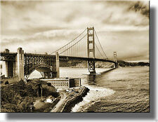 Golden Gate Bridge San Francisco Wall Picture Art, Made on Wood, Ready to Hang