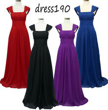 dress190 Long Chiffon Corset Party Bridesmaid Wedding Prom Ball Gown Dress 8-24