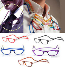 New Unisex Folded Hanging Magnetic Reading Glasses +1.0/1.5/2.0/2.5/3.0/3.5/4.0