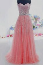 New A-Line Strapless Long Prom Dresses Quinceanera Ball Gowns Formal Party Dress