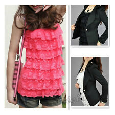 Women's Summer Loose Casual Lace Sleeveless Vest Shirt Tops Blouse Ladies Top