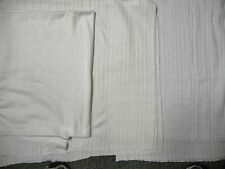 BULK patterned 100% cotton rib knit fabric white off white 10yds 30.00 free ship