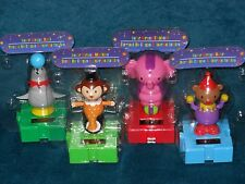 Solar Powered Dancing Toys - 4 Linkable Circus animals to choose from