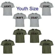 Army Navy Air Force USAF Marines USMC Military Youth Size T Shirt