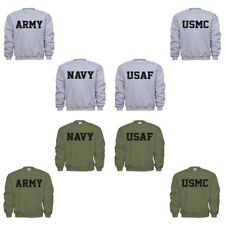 US Army Navy USAF Air Force USMC Marines PT Military Sweatshirt