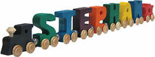 Name Train - Bright Color Childrens Wooden Trains by Maple Landmark