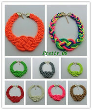 Hot Sale Product Fashion Lady rainbow Chinese knot charm Bib necklace U PiCK