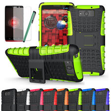 Rugged Armor Hybrid Hard Case Cover Stand For Motorola Droid Ultra/Maxx XT1080