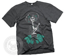 DAY OF THE DEAD SKELETON Mexican Dia De Los Muertos Mariachi mens GILDAN T-Shirt