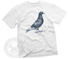 PIGEON Vintage indy style old put a bird on it animal drawing GILDAN T-Shirt NWT