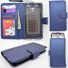 IDENTITY Neptune Blue Universal Wallet Phone Case Pouch Flip Cover For Samsung S