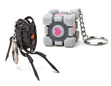 New Portal 2 Keychains With Tag Companion Cube Turret Options Gamer Free Ship