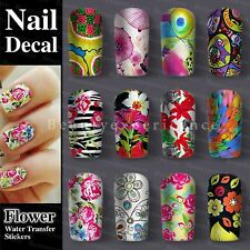 Elegant Artistic Paintings Nail Art Nail Decals Water Transfer Stickers Hot Sale
