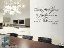 BLESS THE FOOD FAMILY LOVE AMEN VINYL WALL DECAL LETTERING WORDS HOME DECOR