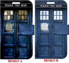 NEW Tardis Box Dr Who Samsung Galaxy S5 S4 S3 S2  Note 3 2 1 Folio Case Wallet